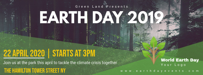 Earth Day Event Announcement Banner Template Postermywall