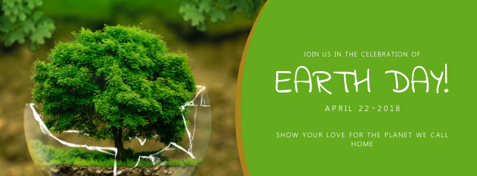 Earth Day Event Facebook Cover photo template