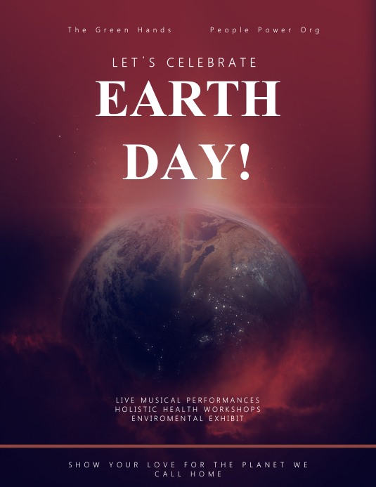 Earth Day Event Flyer Template