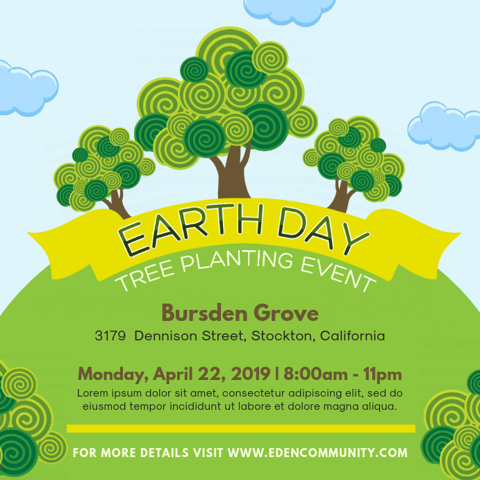 Earth Day event Illustrations Social Media Ad