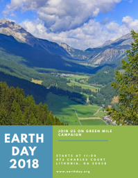 Earth Day Fair Flyer Template Pamflet (Letter AS)