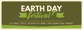 Earth Day Festival Announcement Banner