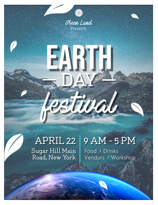 Earth Day Festival Event Flyer