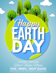 Earth Day Flyer, Earth Awareness Day, Water D