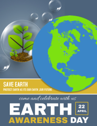 Earth Day Flyer, Earth Awareness Day, Water Day, Save Earth