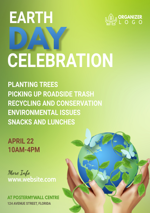 Earth Day Flyer A4 template