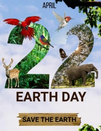 Earth day flyers,Environmental flyers Volante (Carta US) template