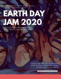 Earth day Jam Flyer Template