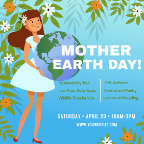 Earth Day Kids Educational Event Ad