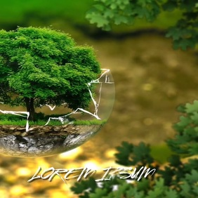 EARTH DAY NATURE AGRICULTURE TREE BACKGROUND Cuadrado (1:1) template