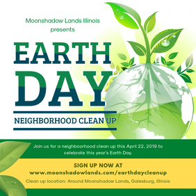 Earth Day Neighborhood Cleanup Drive Ad