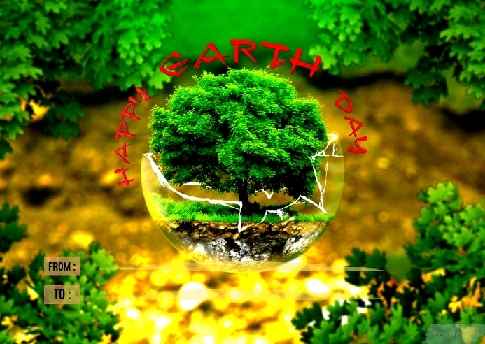 Earth Day Postcard - Vennie Production template