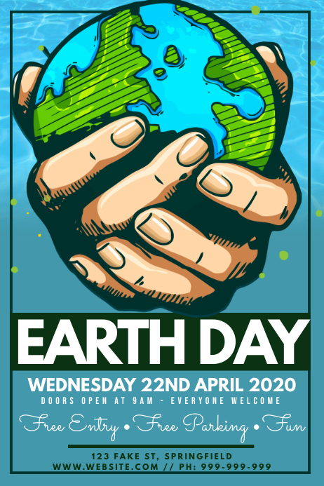 earth day poster template