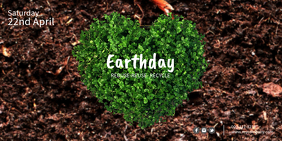 Earth Day Twitter Post template