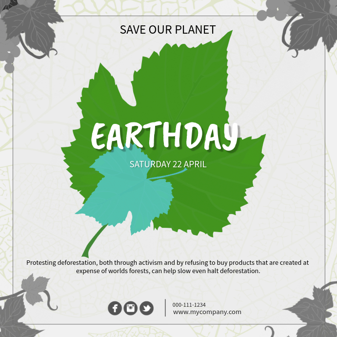 Earth Day Pos Instagram template