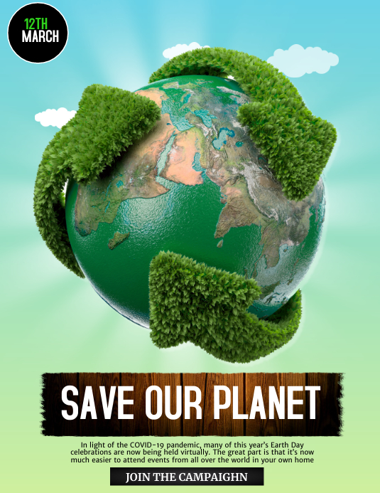 Earth Day Posters Environmental Posters Template Postermywall