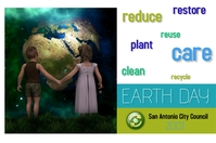 earth day/recycle/care planet/save earth Баннер 4' × 6' template