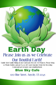 Earth Day Restaurant Flyer
