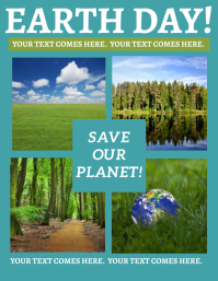 EARTH dAY sAVE oUR pLANET Flyer Template