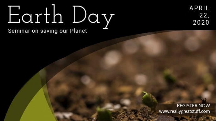 Earth Day Seminar Video Ad Template Facebook 封面视频 (16:9)
