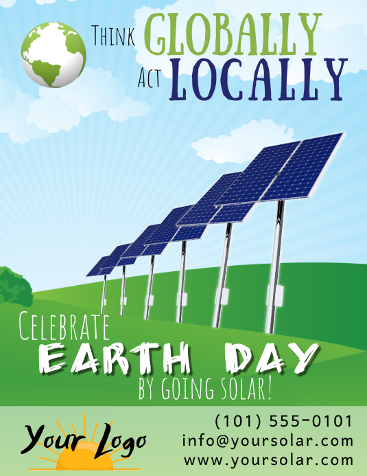 Earth Day Solar Power Flyer