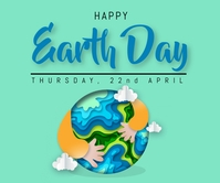 Earth day template Malaking Rektangle