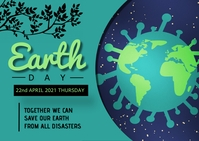 Earth day template Postcard