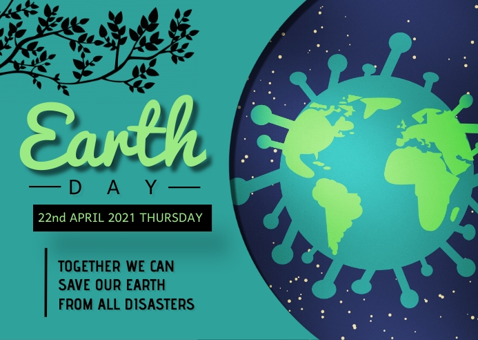 Earth day template Kartu Pos