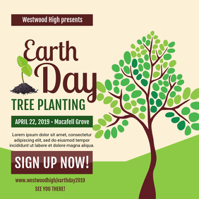 Earth Day Tree Planting Drive Advert Instagram
