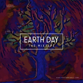 Earth Day Tree The Mixtape CD Cover 专辑封面 template