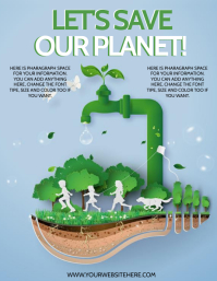 EARTH DAY WATER DAY ECO ENERGY Flyer template