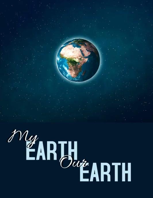 Earth Pamflet (Letter AS) template