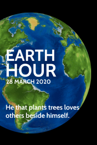 Earth Hour Day Template
