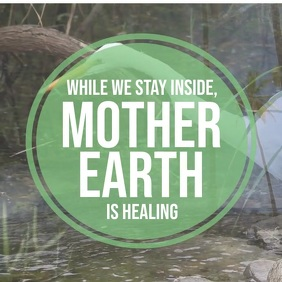 Earth is healing coronavirus template