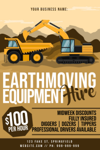 Earth Moving Equipment Hire Poster
