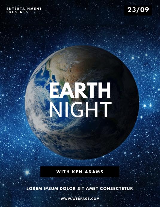 Earth Night Flyer Design Template