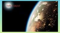 earth Revolving earth Fotografia de capa do canal do YouTube template