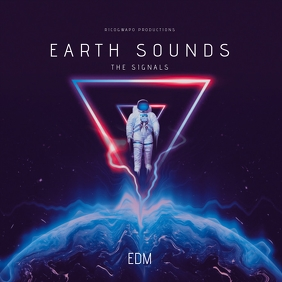 Earth Sounds EDM Album Artwork Cover template