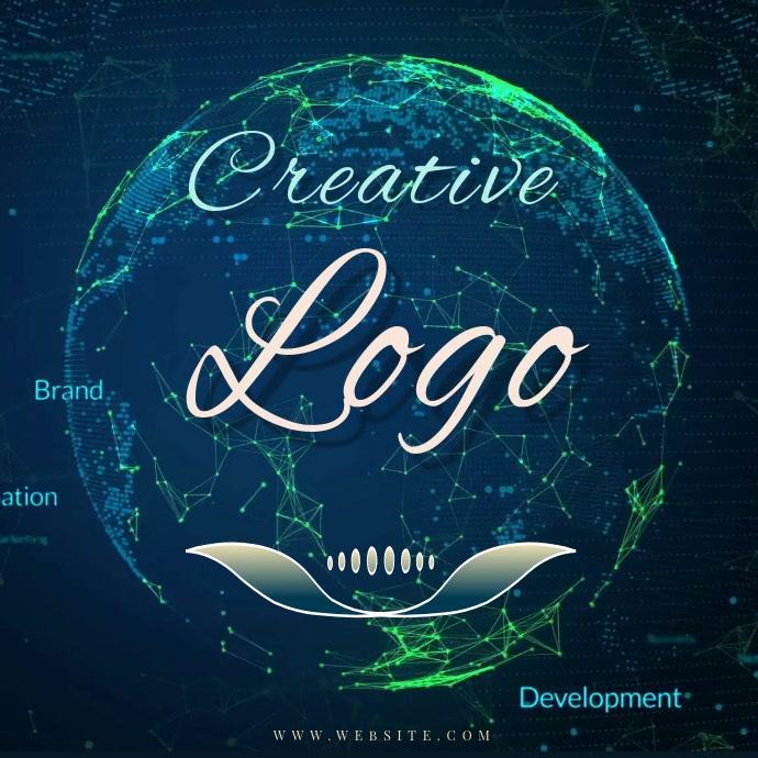 earth world planet RING LOGO Design TEMPLATE