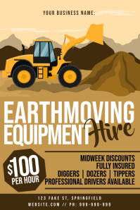 Earthmoving Equipment Hire Poster