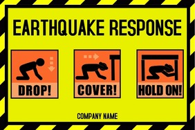 Earthquake response poster
