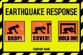 Earthquake response poster
