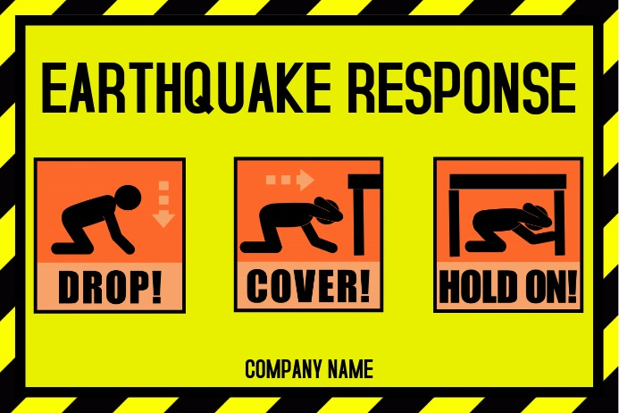 Image result for earthquake safety poster