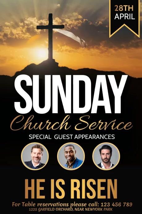 easter, church, church service, worship Poster template