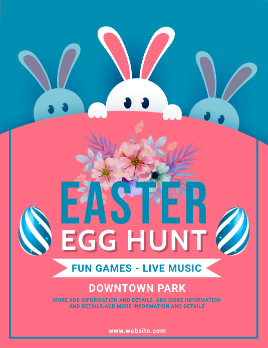 easter, event, spring, party Volantino (US Letter) template