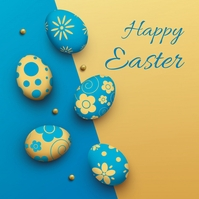 easter, event, spring, party Sampul Album template