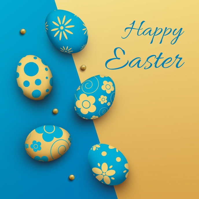 easter, event, spring, party template