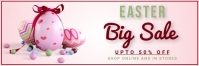 easter, event, spring, party Bannière 2' × 6' template