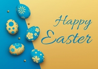 easter, event, spring, party 明信片 template