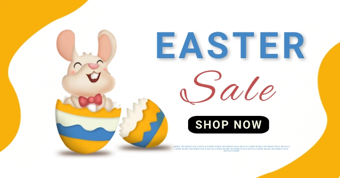 easter, event, spring, party โฆษณา Facebook template